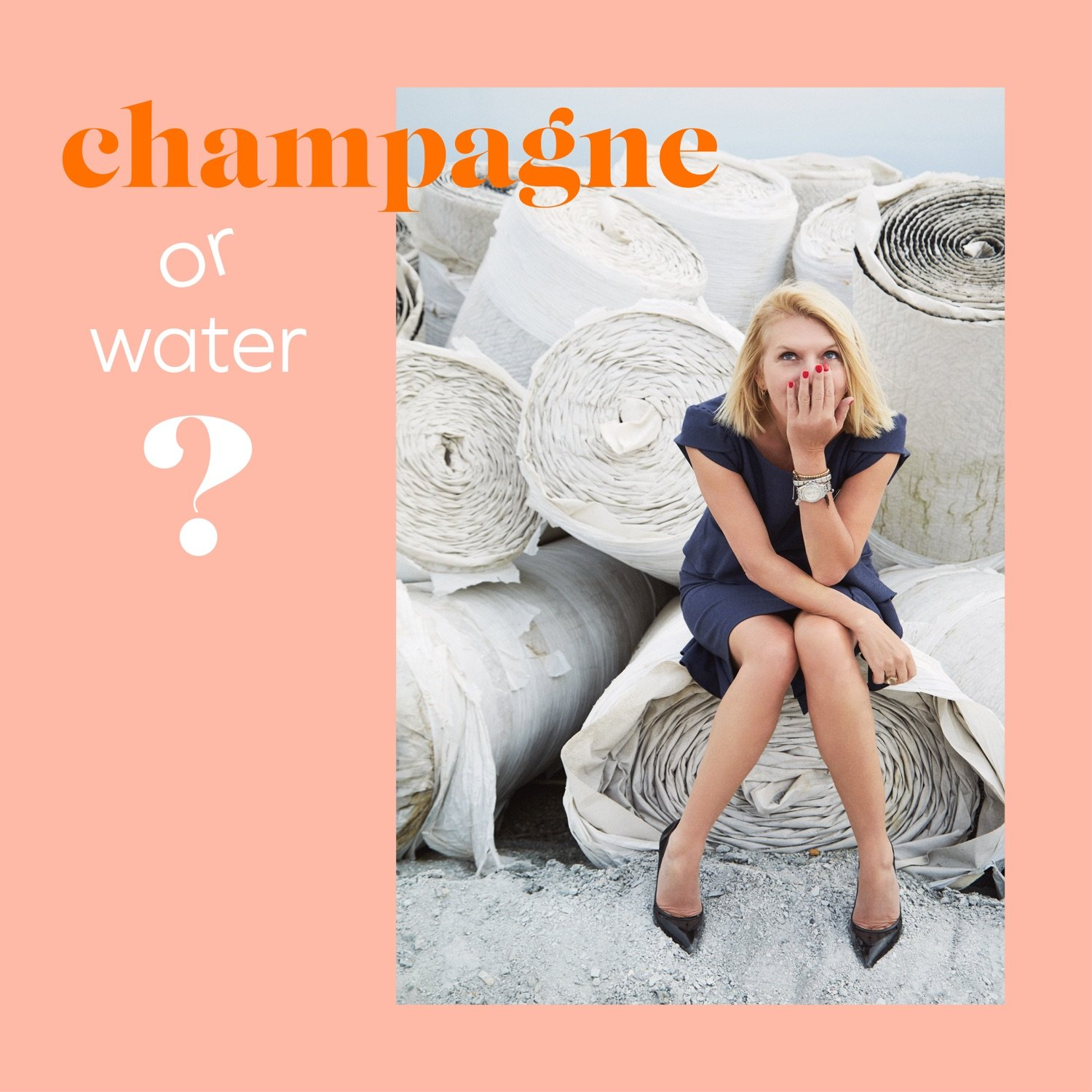 "Cover für den Podcast ""Champagne or Water?"""